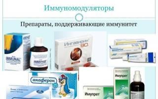 Иммуномодуляторы список препаратов при цистите