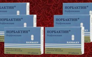 Антибиотики норбактин при цистите у женщин